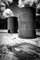 Black and White Fine Art Photography of Oil Wells and Fracking outside Austin, Texas