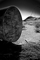 Black and White Ghost Town Photography